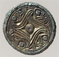 Silver horse Fylfot brooch, 7th Century, Denmark.