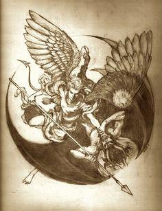 49 ideas for tattoo designs angel sweets Future Tattoos, Love Tattoos, Body Art Tattoos, Tattoo Drawings, Evil Tattoos, Vs Angels, Angels And Demons, Tatoo Angel, Angle Tattoo
