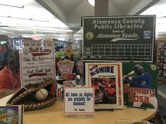 Baseball themed book display at the Graham Public Library. This was part of our 2015 Alamance Reads event.