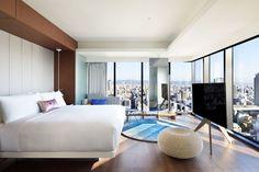 the city W Hotel, Tadao Ando, Osaka Japan, Interior Architecture, Concrete, Gallery, Table, Furniture, Home Decor