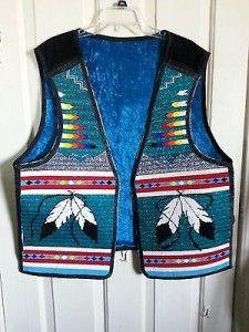 Native American Beaded Vest Men