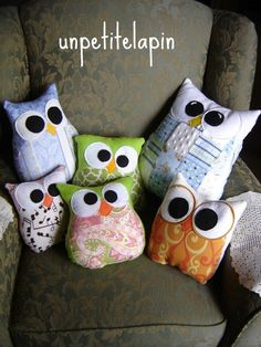 Owl Pillows (Sis requested 1 sleeping)