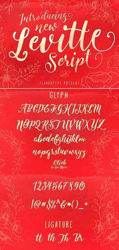 Levitte is an elegant script font perfect for quotes, poster design, logo design and Cricut projects. #scriptfont #fonts #logodesign #cricut Handwritten Fonts, Calligraphy Fonts, Script Fonts, New Fonts, Doodle Lettering, Hand Lettering, Graphic Design Projects, Commercial, Logo Design