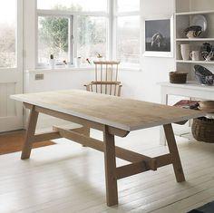 welsh oak farmhouse trestle table by blodwen general stores | notonthehighstreet.com