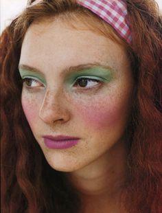Vogue (Italy) - Perry Ogden. Makeup by Lisa Eldridge http://www.lisaeldridge.com/gallery/editorial/ #Makeup #Beauty #Fashion
