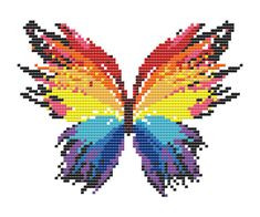 Colorful Butterfly Counted Cross Stitch Pattern by LeiaPatterns