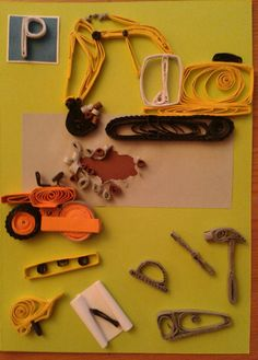 Asphalt roll, digger, instruction tools by quilling