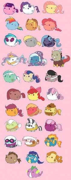 My Little Ponies as Pusheen the Cat. Or is Pusheen as the ponies? Dessin My Little Pony, Mlp My Little Pony, My Little Pony Friendship, My Little Pony Characters, Mlp Characters, My Little Pony Drawing, Fluttershy, Discord, Gato Pusheen