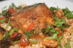 Aromatic Syrian chicken with bulgur.