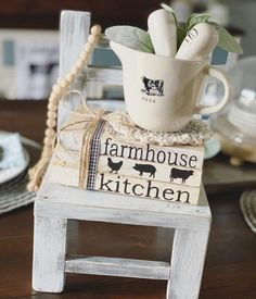 , Stamped books / Farmhouse decor / Farmhouse kitchen / Book Stack / Farmhouse books / Vintage books / Kitchen decor / Cow pig chicken Stamped books / F. Farmhouse Books, Farmhouse Chairs, Farmhouse Bedroom Decor, Country Farmhouse Decor, Farmhouse Style, Farmhouse Font, Rustic Books, Farmhouse Kitchens, Farmhouse Interior