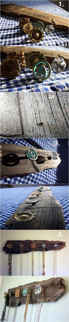 DIY: Necklace Holder
