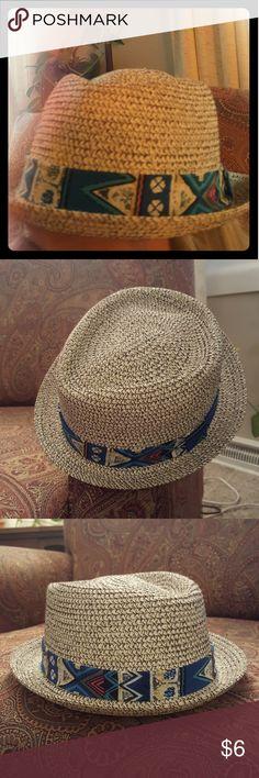 Rue 21 Hat Fashion hat, light and dark brown weaved. Rue 21 Accessories Hats
