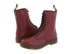 Martens 1490 Lace-up Boots Lace Booties, Lace Up Shoes, Ankle Booties, Me Too Shoes, Red Doc Martens, Dr Martens Boots, Dm Boots, Cool Boots, Two Tone Boots