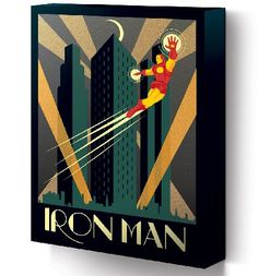 Marvel Comics Iron Man Deco Canvas Print 30 x 40cm This is a very stylish way to show your appreciation for the Marvel Superhero, Iron Man. With an Art Deco inspired design, the canvas has a really appealing vintage look. http://www.comparestoreprices.co.uk/t-shirts/marvel-comics-iron-man-deco-canvas-print-30-x-40cm.asp