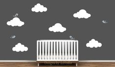 Nursery Wall Decal Elephant Giraffe and Baby by DesignsByDelia09