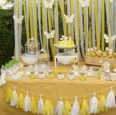 Yellow butterfly first communion party! See more party planning ideas at CatchMy… Yellow butterfly first communion party! See more party. Butterfly Baby Shower, Butterfly Party, Butterfly Birthday, First Communion Favors, First Holy Communion, Yellow Birthday, 1st Birthday Girls, Birthday Party Decorations, Birthday Parties
