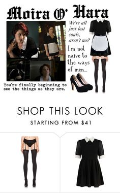 """""""Moira O'Hara - American Horror Story"""" by bellageorgia ❤ liked on Polyvore featuring Wolford and Retrò"""