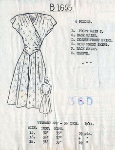 1940s Pretty Flared Dress Pattern Woman's World by BessieAndMaive