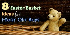 The best easter basket ideas for 1 year old boys easter baskets the best easter basket ideas for 1 year old boys negle Image collections