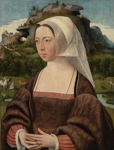 Portret van een vrouw, Jan Jansz Mostaert, 1525