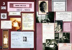 Familie in Beeld - Alles over familiegeschiedenis en stamboomonderzoek: #2: A3 lay-outs over het leven van Marie van Dijk