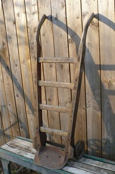 Old Industrial Feed Cart Primitive Farm Piece by JunkBoutique