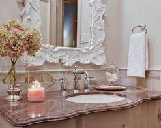 Vintage Glam Bathroom by sherrie
