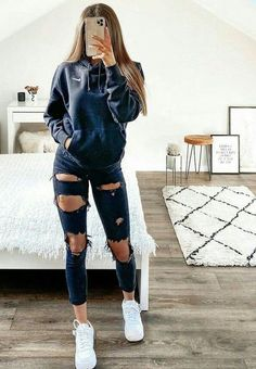 Cute Lazy Outfits, Casual School Outfits, Teen Fashion Outfits, Retro Outfits, Look Fashion, Fasion, Stylish Outfits, Fashion Clothes, Trendy Outfits For Teens