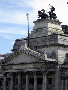 Close-up of the Congreso de la Nación building.  Buenos Aires, Argentina.