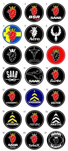 The 21 SAAB Logo Badges