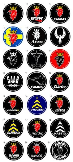 The 21 SAAB Logo Badges