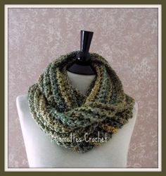 A personal favorite from my Etsy shop https://www.etsy.com/listing/209461822/crochet-infinity-scarf-chunky-meadow