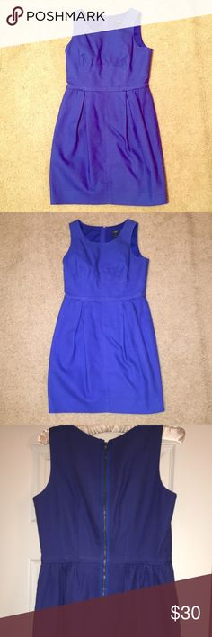 J. Crew Factory Dress Blue dress from the J. Crew Factory store. Worn and dry cleaned about 5 times. Great for work, interviews, events, etc. J. Crew Dresses