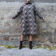 BROWN / BEIGE Maxi dress, Wool Oversized dress, Fall Winter dress, Turtleneck Dress, Plus size dress, Sporty dress, Midi dress, Casual dress