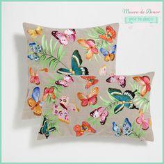 Blog de decoración: Decoración con animales - Cojines con Mariposas