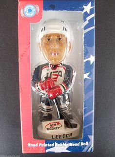 Team USA Hand Painted Bobble Dobbles Head Doll #2 Jersey Leetch Hockey Olympics
