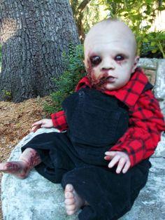 reborn baby doll horror zombie evil scary  oddities ooak