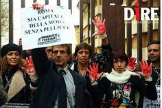 'Roma sia capitale della moda senza pellicce': manifestazione degli Animalisti contro le sfilate AltaRoma