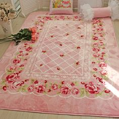 shabby chic rug, I have seen one of these and desired it BADLY