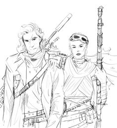 Rey & Kylo Ren - nuclear apocalypse AU by Elithien