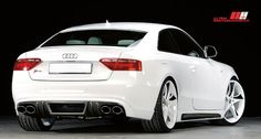 Audi S5 coupe white - Carbon Fiber Look Bodykit