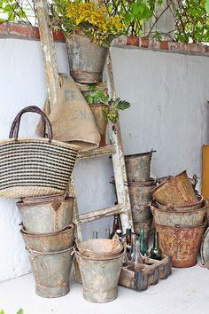 Vintage Galvanized Items