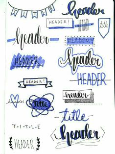 Bujo headers and titles! Had a lot of fun doing this one! Bujo headers and titles! Had a lot of fun doing this one! Bullet Journal School, Bullet Journal Writing, Bullet Journal Headers, Bullet Journal Banner, Bullet Journal Aesthetic, Bullet Journal Ideas Pages, Bullet Journal Spread, Bullet Journal Layout, Bullet Journal Inspiration