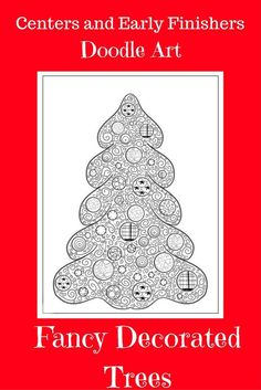 This Christmas tree doodle art product was created as a center activity or for early finishers but could also be used as an easy art lesson. It is great for the Christmas holidays, but would be fun to doodle anytime. (There is no mention of Christmas in t