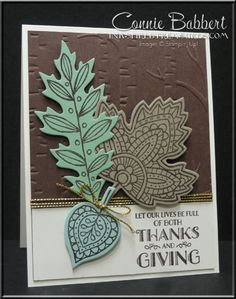 Stampin' Up! Lighthearted Leaves for the Grand Achievers Blog Hop, come take the tour!  Fall, #‎gvachieversbloghop‬, #stampinup, created by Connie Babbert, www.inkspiredtreasures.com