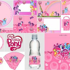 My Little Pony in Pink Free Printable Kit. (Oh My Fiesta! for Geeks) My Little Pony Cumpleaños, Fiesta Little Pony, Cumple My Little Pony, My Little Pony Friends, My Little Pony Costume, Little Pony Cake, Little Poney, Sofia The First Birthday Party, My Little Pony Birthday Party