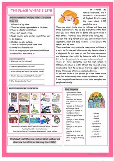 The Place Where I Live Reading Comprehension worksheet - Free ESL printable worksheets made by teachers