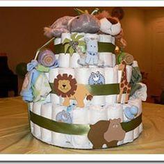 Mittelpunkt vieler Baby Shower Parties sind die sogenannten Diaper Cakes, im Deutschen meistens Windeltorte genannt. Wer noch nie so etwas gesehen hat, so können Windeltorten aussehen (Bild anklicken für größeres Bild). Wer mehr Anregungen und Ideen möchte wie eine Windeltorte aussehen kann, dem...