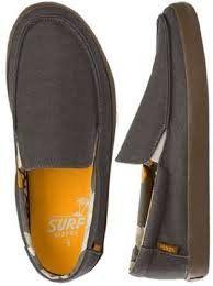 20f15e55081 Vans Mens Bali Surf Siders Slip-On Skate Sneakers - charcoalradiantyellow -