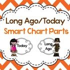 """Add some """"cute"""" to your anchor charts about life long ago and life today with these printable smart chart parts! Examples for use for compare/contr..."""